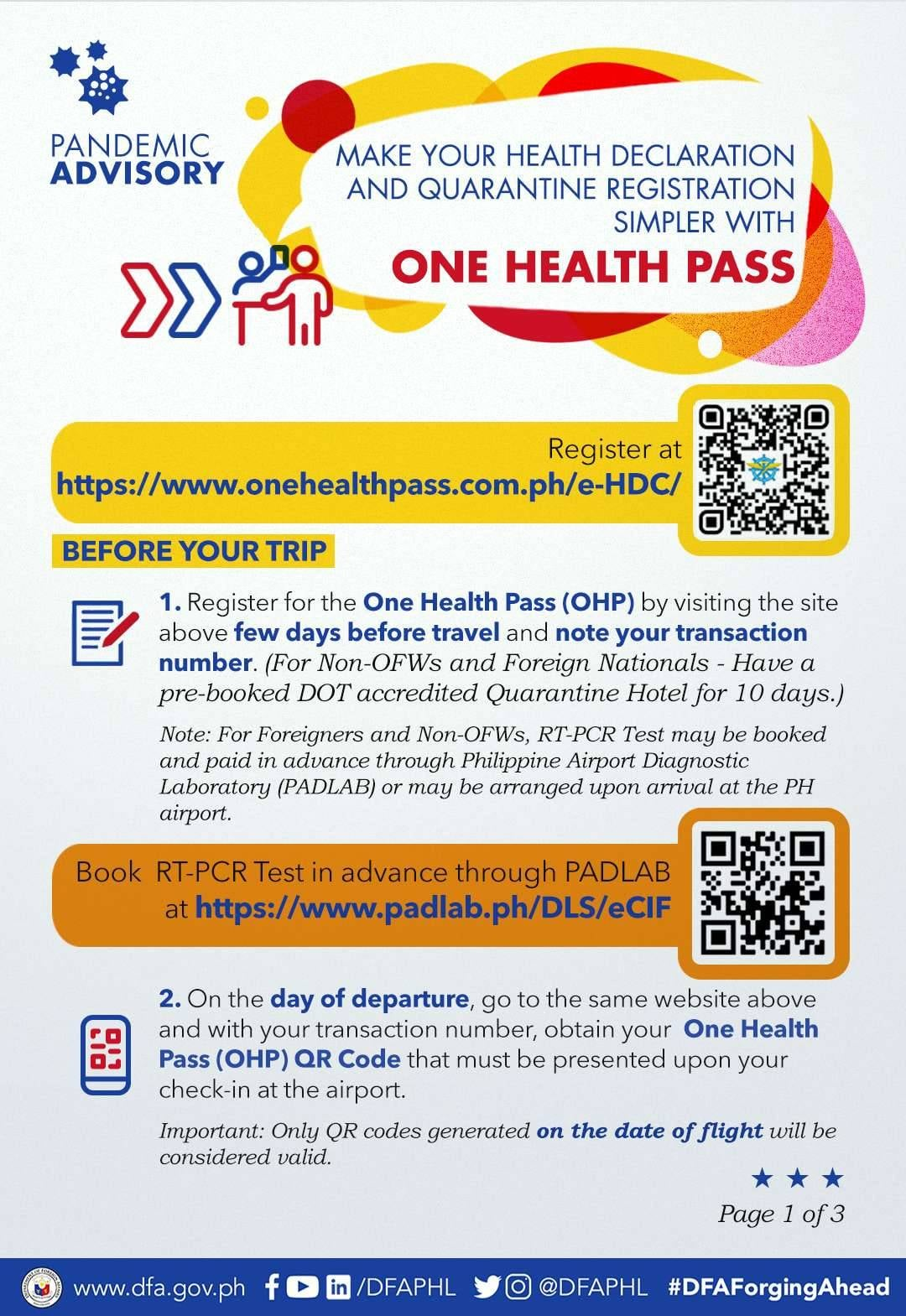 One Health Pass Guide Before your Trip