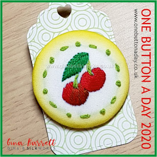 Day 221 : Cherry cherry - One Button a Day 2020 by Gina Barrett