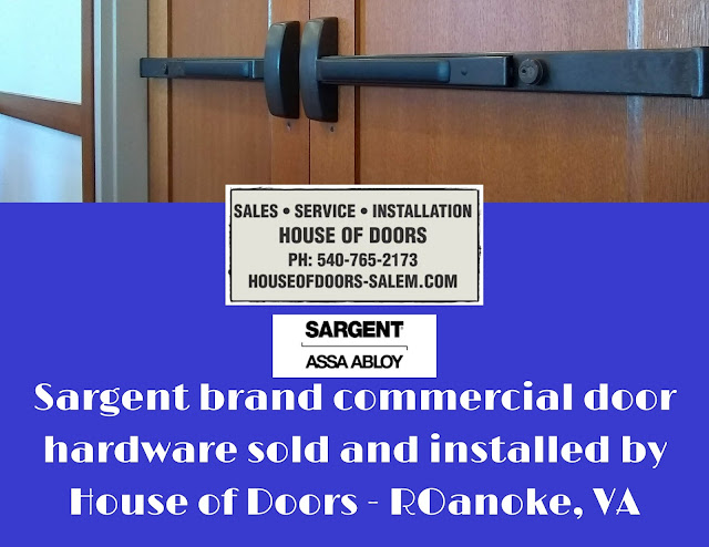 Sargent brand hardware including parts for locks, exit devices, closers and more sold and installed by House of Doors - Roanoke, VA