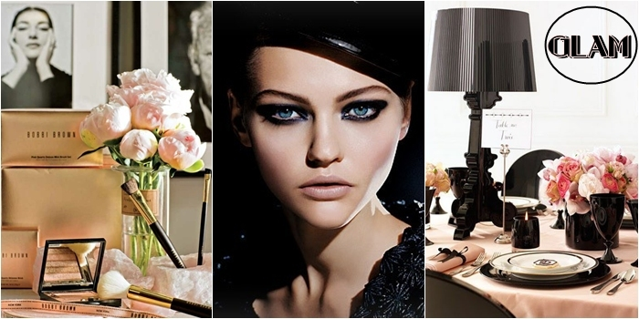 black and pink feminine and glam inspiration