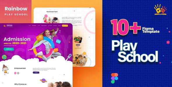 Best Kids Play School Website Figma Template
