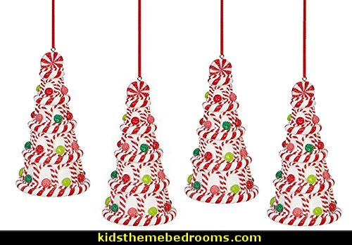Candy Cane Christmas Tree Ornament   candy Christmas theme decorating - candy themed christmas decorations - christmas candyland decorations -  candy ornaments -  candy shaped holiday ornaments - candy themed Christmas decor -   lollipop candy swirls Throw Pillows - Candy Christmas Tree  - candy stripe Chritmas decor - Candy Cupcake Ornaments