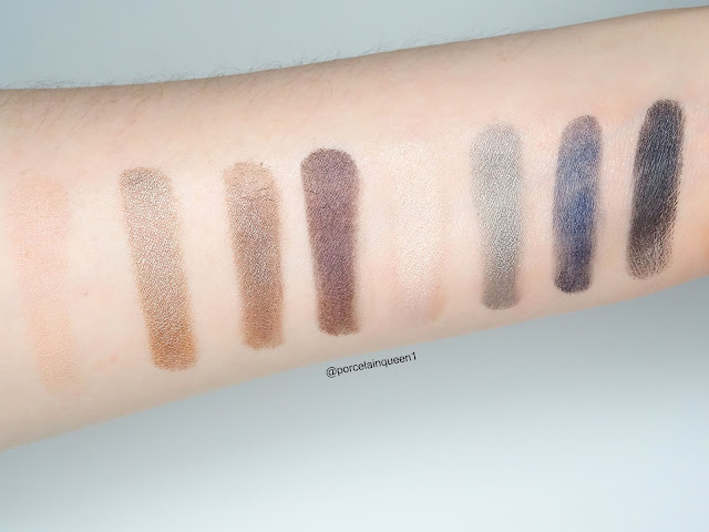 swatches of narsissist dual intensity eyeshadow palette