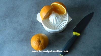عصير طبيعي بالتفاح والجزر والبرتقال