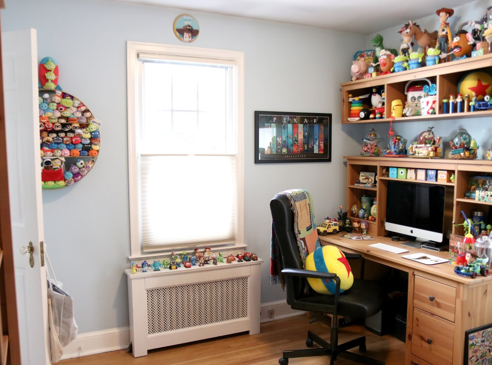 pixar themed home office