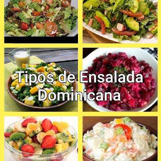 Tipos de ensalada dominicana