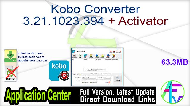 Kobo Converter 3.21.1023.394 + Activator