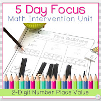 This related unit for teaching two digit place value can be found on Teachers Pay Teachers.