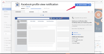 FB Profile View Notifier Chrome Extension