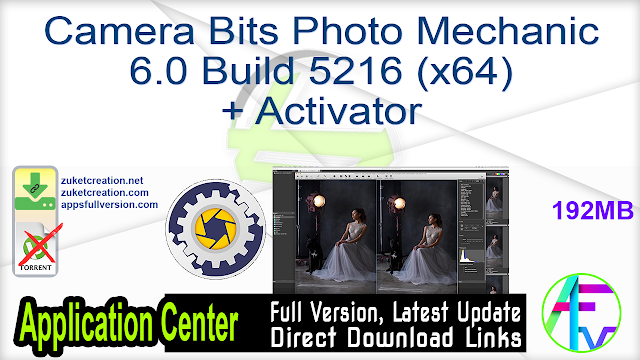 Camera Bits Photo Mechanic 6.0 Build 5216 (x64) + Activator