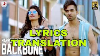 Backbone Lyrics Meaning in Hindi (हिंदी) - Harrdy Sandhu