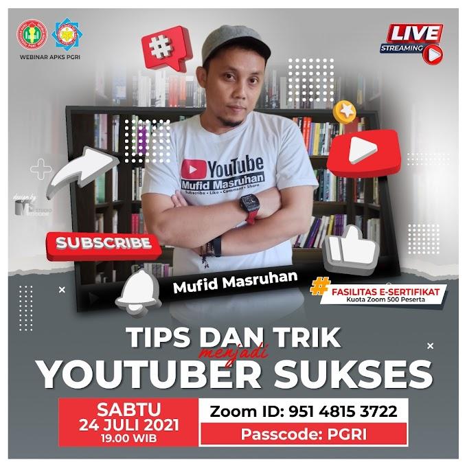 Tips dan Trik  Menjadi Youtuber Sukses