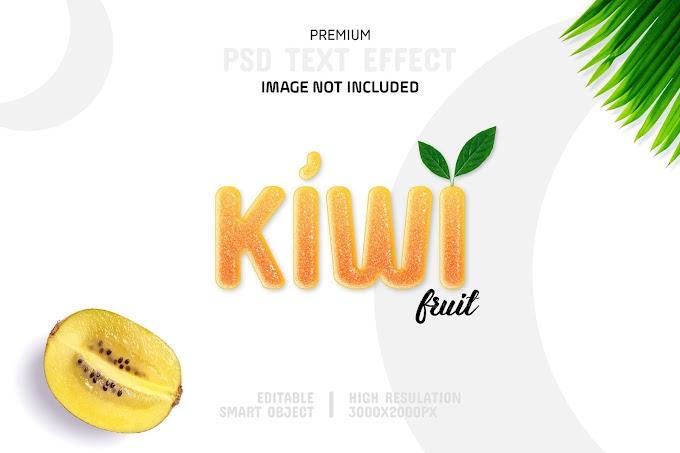 Kiwi Text Effect PSD