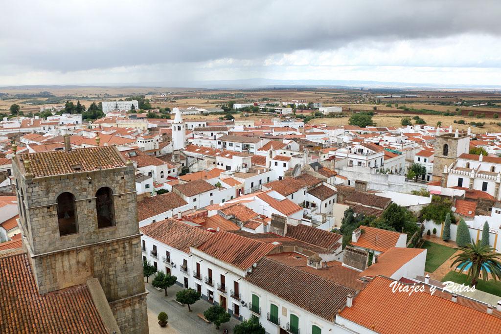 Vistas desde la torre del homenaje, Olivenza