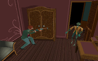 Videojuego Alone in the Dark 1992 - captura de juego