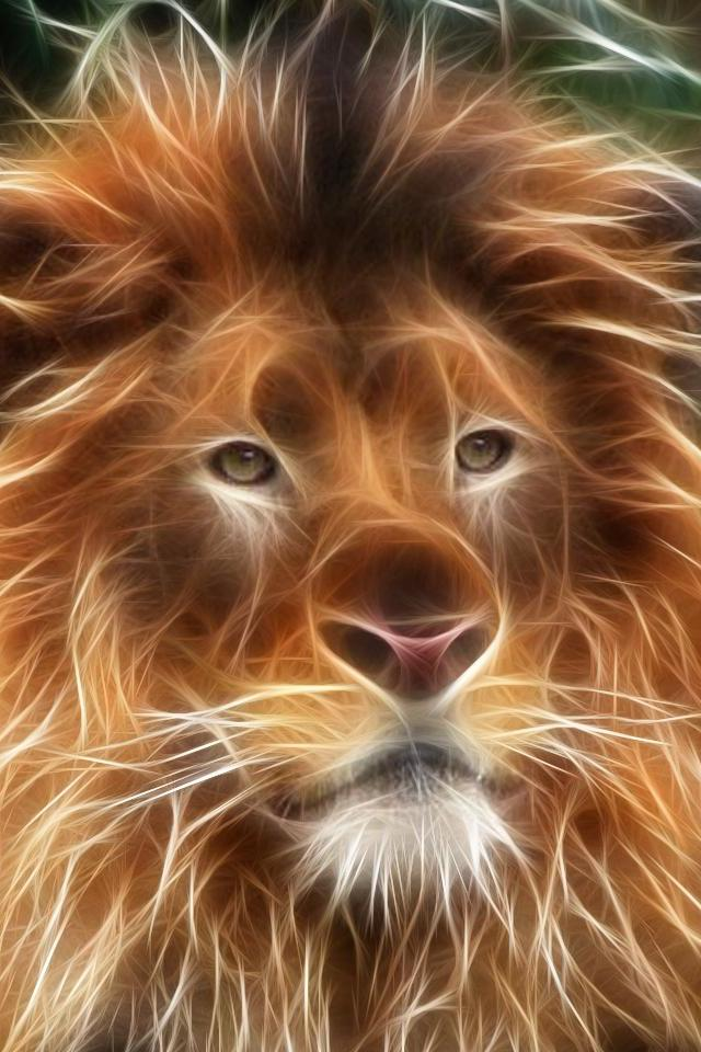 Beautiful 3D Lion Wallpapers for iPhone 4