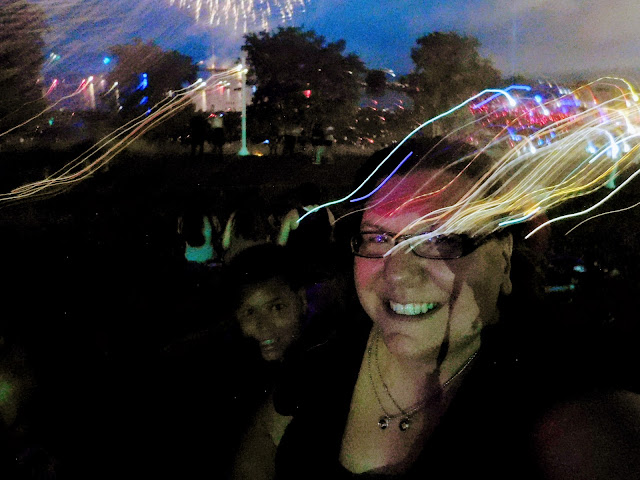 Selfie attempt at Cleveland Metroparks centennial fireworks