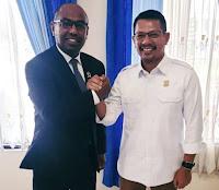 Usai Pimpin Paripurna, Ketua Sementara DPRD Kobi Silaturahim ke Anggota FKPD