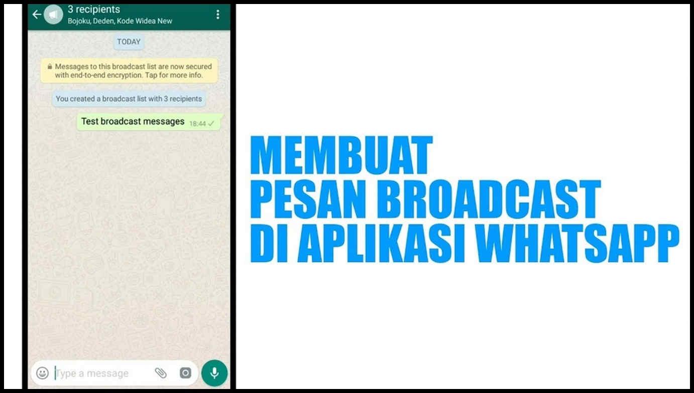 cara broadcast di wa ke semua kontak