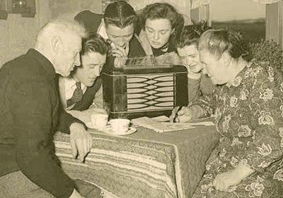 Group of radio listeners