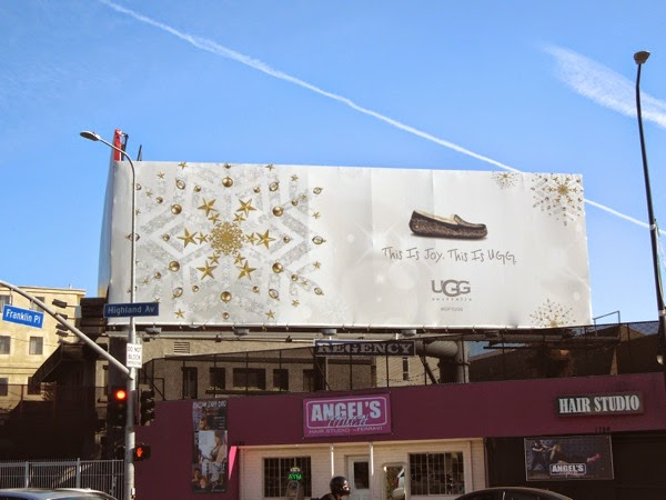 This is Joy UGG moccasin billboard