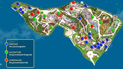 Mappa Gardaland 2019