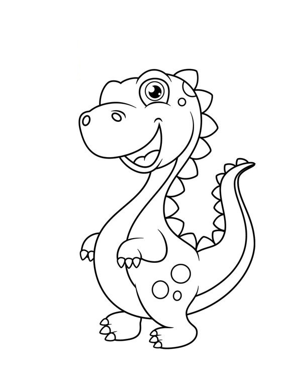 Hình tô màu con khủng long bé