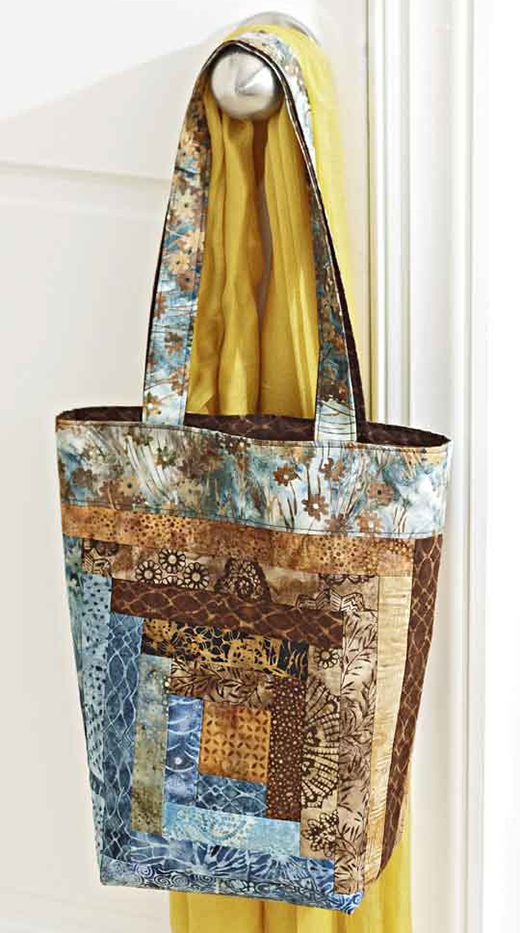 Log Cabin Tote Bag Free Quilt Pattern