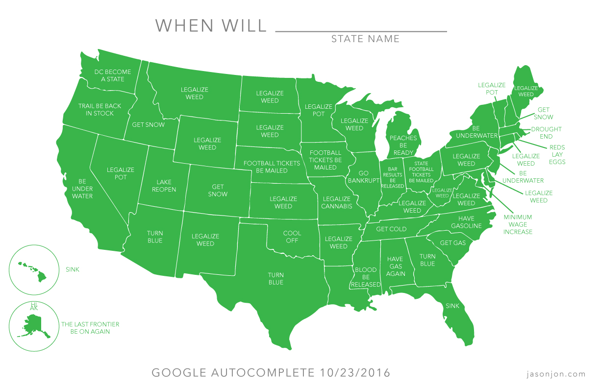 "Google autocomplete: ""When will [country] ...?"""