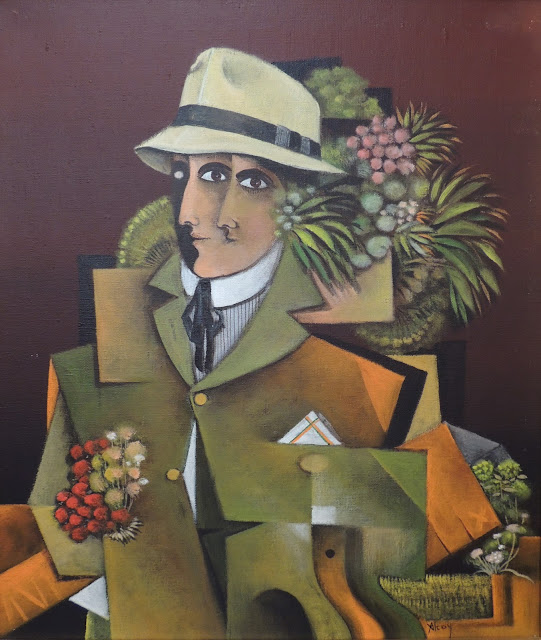 Eduard Alcoy barret sombrero pintura surrealista catalana