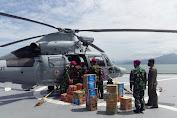 TNI AL Kerahkan Helikopter Distribusikan Bantuan di Daerah Bencana Alam Terisolir Kab Majene