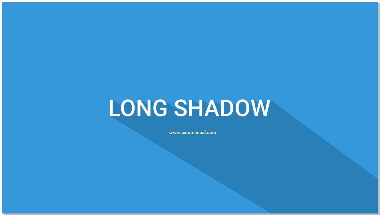 Membuat Long Shadow Pada Teks di CorelDraw
