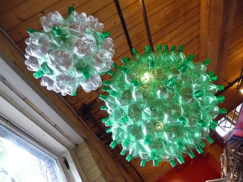 How to recycle june 2014 for Art out of plastic bottles