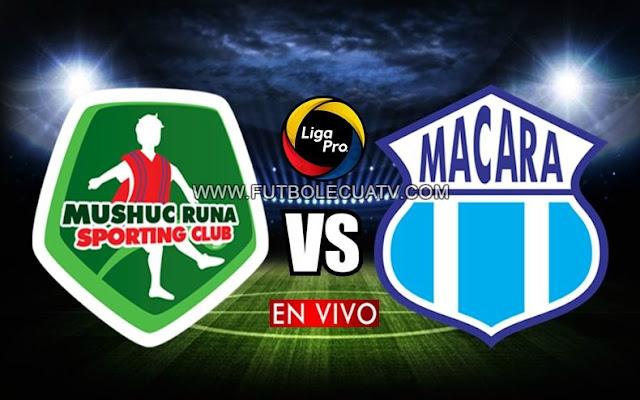 Mushuc Runa se mide ante Macará en vivo continuando la fecha cinco del torneo nacional con transmisión de GolTV Ecuador a partir de las 13H30 horario de nuestro territorio, teniendo como árbitro principal Luis Quiroz.
