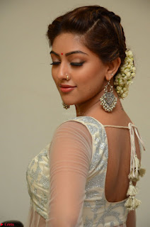 Anu Emmanuel in a Transparent White Choli Cream Ghagra Stunning Pics 021.JPG