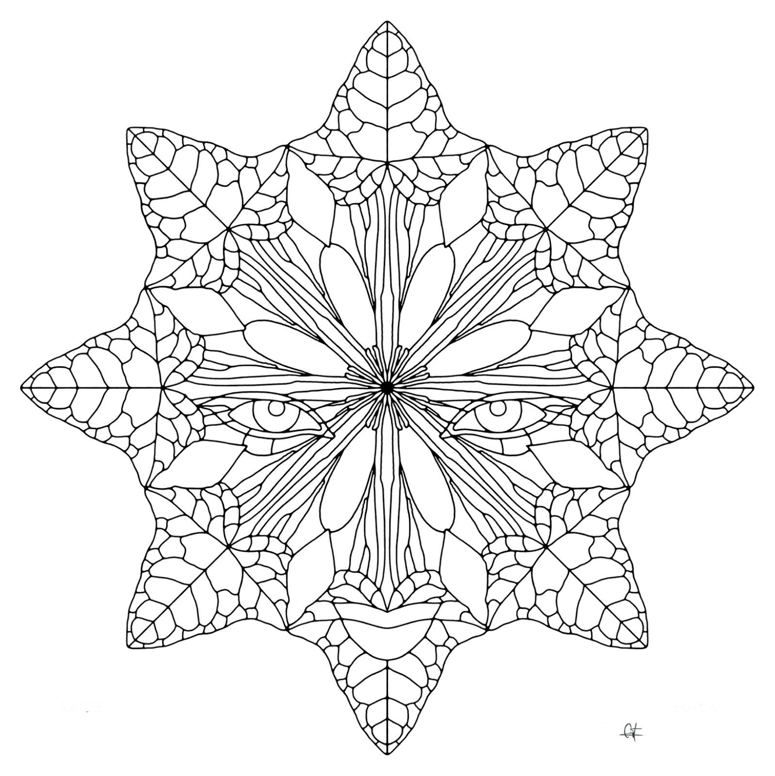 Arabesko Dibujo Mandala Para Colorear Paint Drawing