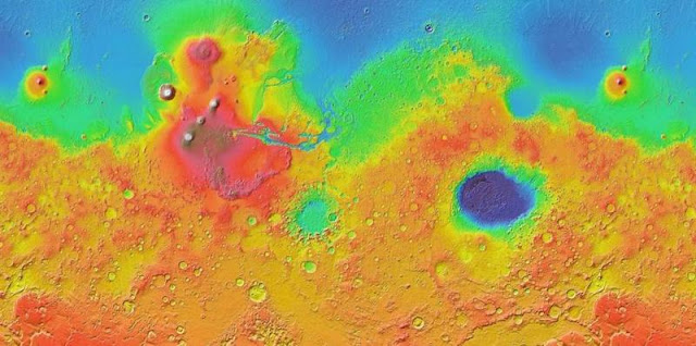 Service the Google Mars provides users with a real-time view a map of the Red Planet.