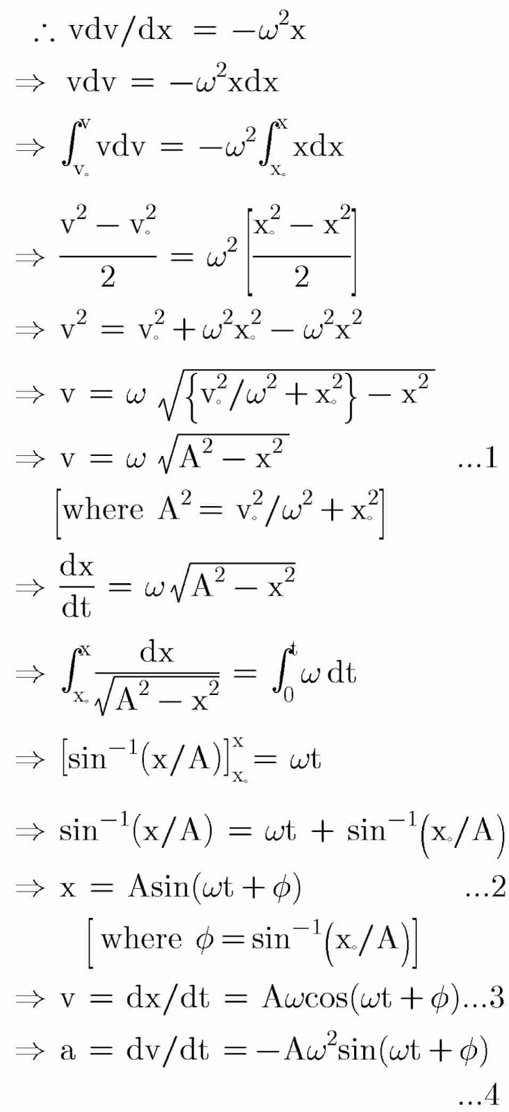 Derivations, Equations