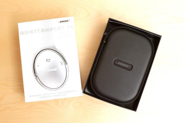 BOSE QuietComfort 35 盒裝內部:直接提供攜行盒的包裝