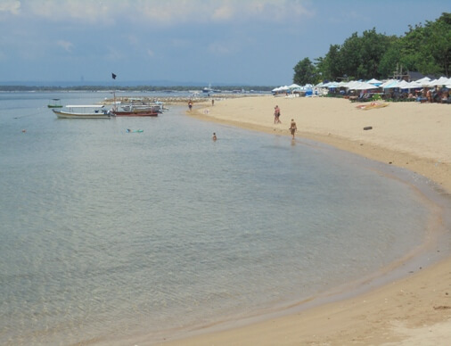 together with enveloped past times serenity together with relaxing atmosphere BeachesinBali: Semawang Beach Sanur in Denpasar Bali