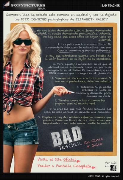 Bad Teacher Póster Español Pelicula Trailer