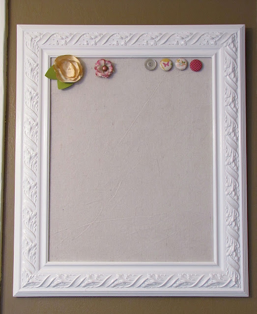 how to make a fabric covered magnetic board