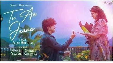 Palak Muchhal -Tu Aa Jaana (तू आ जाना) Lyrics in Hindi।HIndilyricszone.in