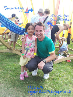 LolliBop Festival, Simon Pegg, Alex Winters from CBeebies
