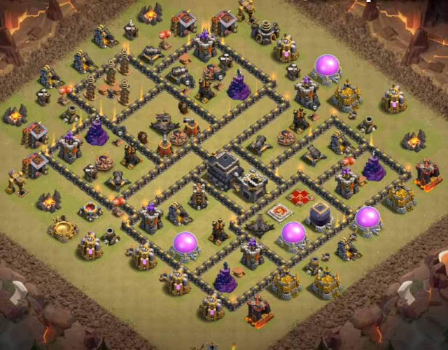 Base COC TH9 War 8