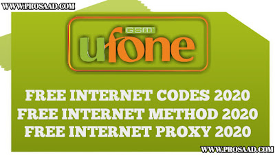 Ufone Free Internet Code 2021