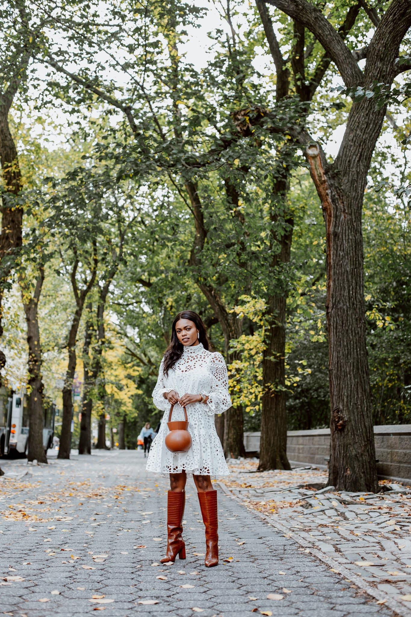 white dresses for autumn