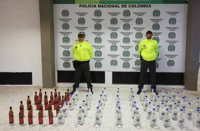 Licor adulterado por más de $13 millones se incautó Policía del Cesar
