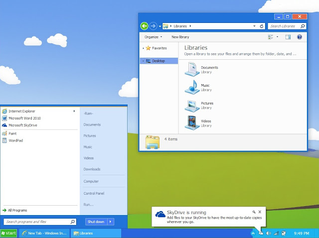Luna & Metro meets to create 1 Windows 7 theme