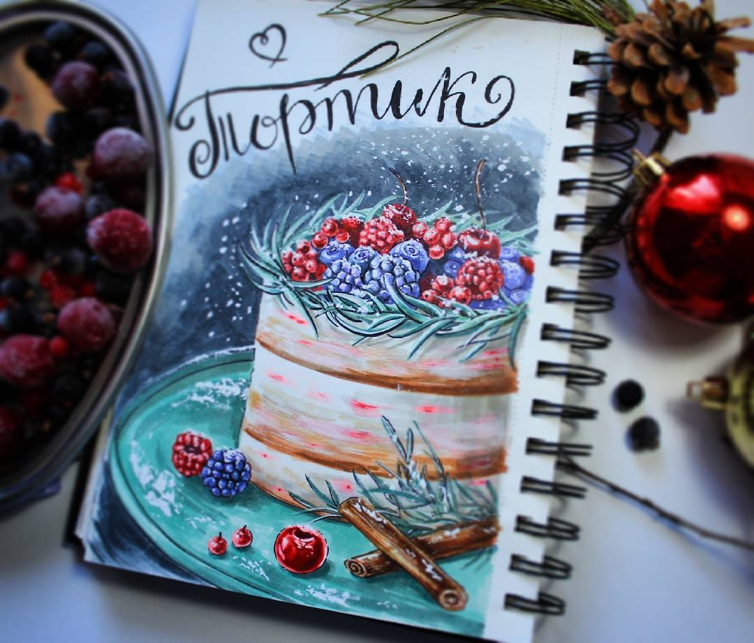 05-stepashkina-Cakes-Pastries-and-Drinks-Food-Art-Drawings-www-designstack-co